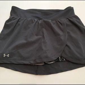 Under Armour Grey Workout Tennis Skirt or Skort